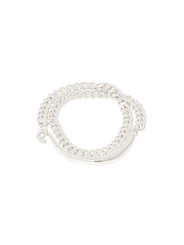 Hook, Line & Chain bracelet - Silver