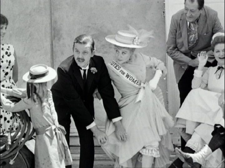 David Tomlinson and Glynis Johns clown about on the set of Mary Poppins (1964). Join us on the podcast for more about this delightful film. . #behindthescenes #bts #betweentakes #goofinoff  #julieandrews #dickvandyke #glynisjohns #elsalanchester #davidtomlinson #robertstevenson #tonywalton #musical #academyawardwinner #disney #disneyproduction #marypoppins #petemenefee #nannylife #nanny