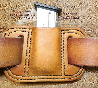 Leather MAG POUCH for 9mm /.40 Single Stack magazine fits Springfield XDS Mags