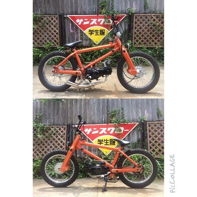 #hondacub#hondasupercub#motorcycle#honda#C70#C50#cub#bicycle#BMX#BMXcub #streetcub #Finish#ホンダカブ#ホンダスーパーカブ#スーパーカブ#自転車#完成#オレンジパールレインボーフレーク#販売#ForSale#Sale ホンダスーパーカブBMX仕様完成(o)/ ヤフオク出品中(o)/ by maru1motorcycle