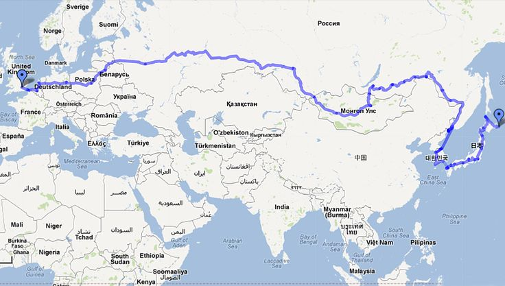 A motorcycle route to explore Europe and Asia. That would ...