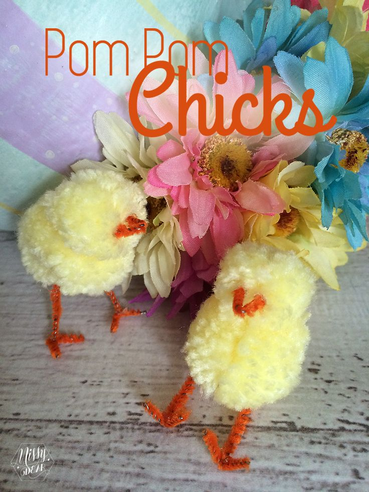 DIY-Easter-Pom-Pom-Chick-tutorial. Another little craft project for you and your granddaughter.