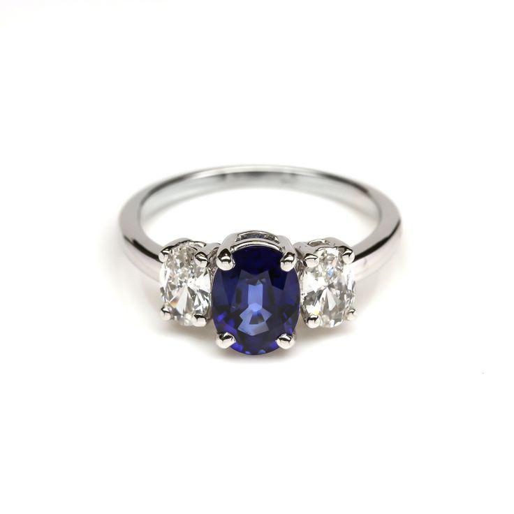 Sapphire & Diamond Engagement Ring
