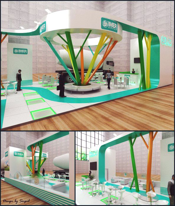 Expo Stands 2015 : Fair stand exhibition design decor beton exhibitions