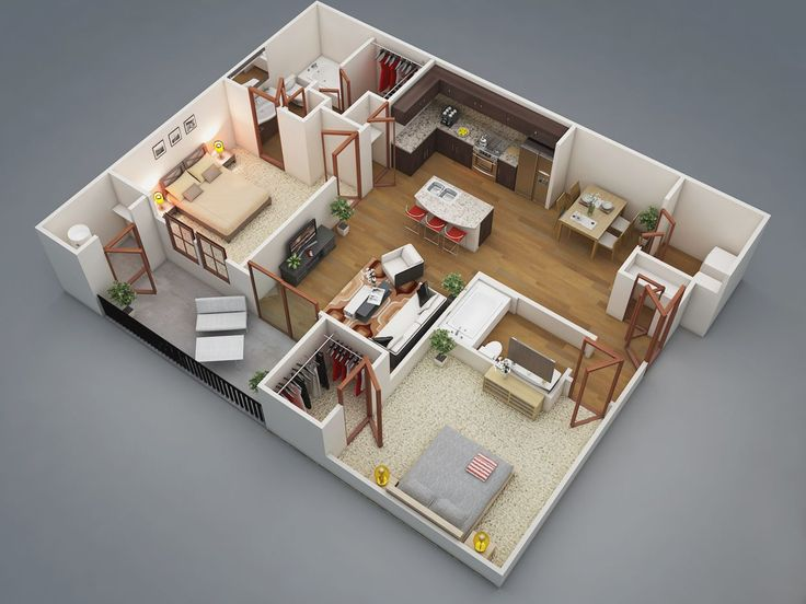 3 Bedroom House Designs 3d