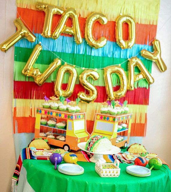 We make your pins a reality! Come see us!!! #ConfettiandCashmere #411PoyntzTaco twosday birthday party decor - fiesta party decor - second birthday party decor