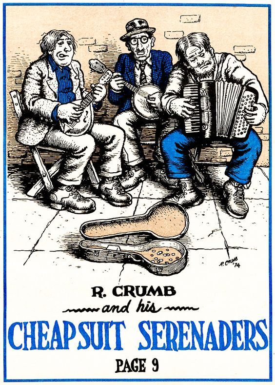 Robert Crumb and His Cheap Suit Serenaders, Promotional Flyer, 1974.