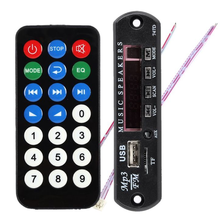 Black Remote SD MP3 Player ZTV-M011 Remote Controller Module FM USB 2.0 3.5mm out jack Y8