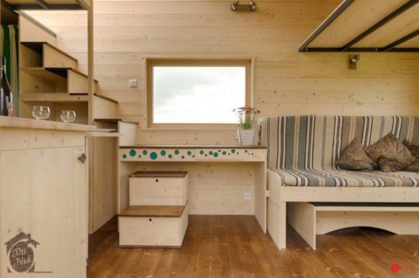 Convertible Roof Tiny House A Thow W A Retractable Ceiling Tiny House Living Room Tiny House Tiny House Living