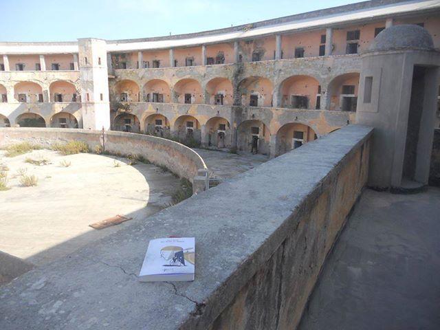 """My novel """"Nel nome di Marco"""" in the Santo Stefano Ergastolo, an old italian prison in a small island in Mediterraneo sea."""