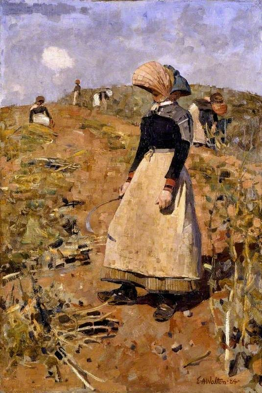 Berwickshire Field-workers, 1884, by Edward Arthur Walton (Scottish 1860-1922)
