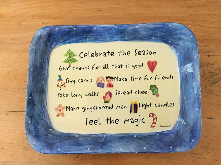 FOR SALE:  A fun ceramic tray from the author/illustrator Marianne Richmond's Christmas Collection, produced for a very short time in the early 2000's. Never used in perfect condition in original box.  PRICE: $5