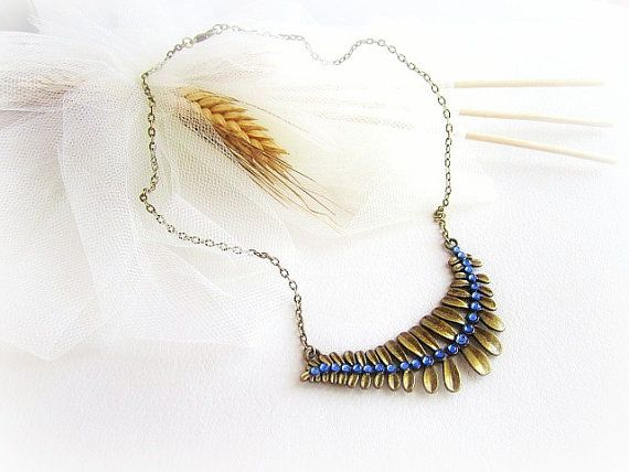 Fern frond necklace vine branch leaf necklace by MalinaCapricciosa, $15.00