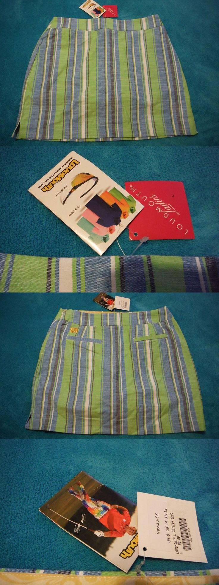 Skirts Skorts and Dresses 179003: Womens Loudmouth Nassau Golf Skort - Size: 8 - New With Tags!!! -> BUY IT NOW ONLY: $39.99 on eBay!