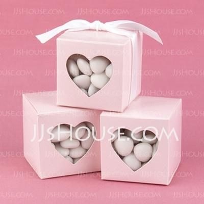 Soportes - $6.39 - Caja rosada del favor con ventana en forma de corazón (Set de 12) (050013116) http://jjshouse.com/es/Caja-Rosada-Del-Favor-Con-Ventana-En-Forma-De-Corazon-Set-De-12-050013116-g13116