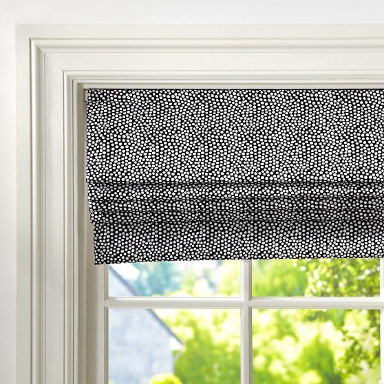 Mini Dot Cordless Roman Shade // #windowtreatments #updates