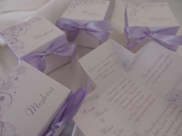 00037-Dobozos esküvői meghívó szalaggal átkötve - Dobozos esküvői meghívók - Esküvői meghívók - Webáruház - Esküvői meghívó, esküvői vendégkönyv, ültető és menükártya, köszönetajándék