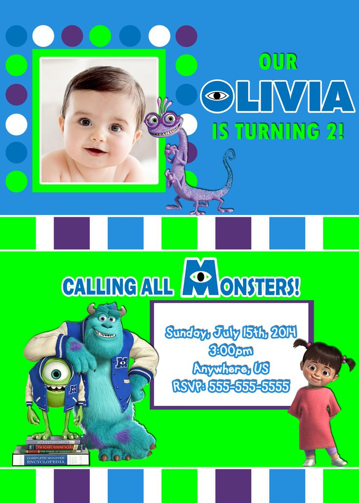 43 best Monsters Inc. Party images on Pinterest | Birthdays ...