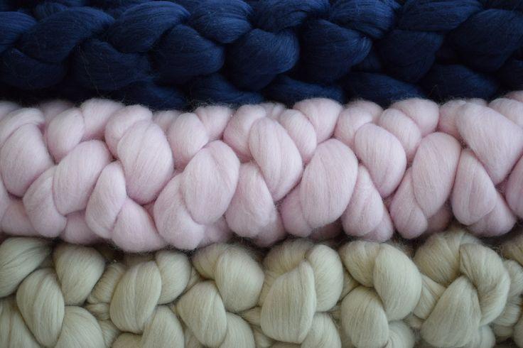 Chunky yarn felted merino blanket throws. Woollymahoosive.com
