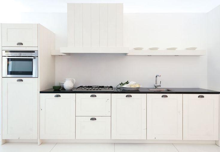 Long Island houten keuken wit vlak front - Product in beeld - Startpagina voor keuken ideeën | UW-keuken.nl