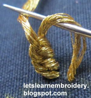 Let's learn embroidery: Loop flower