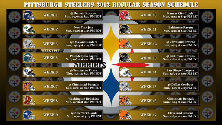 2012 Pittsburgh Steelers Schedule Wallpaper A Photo On Flickriver