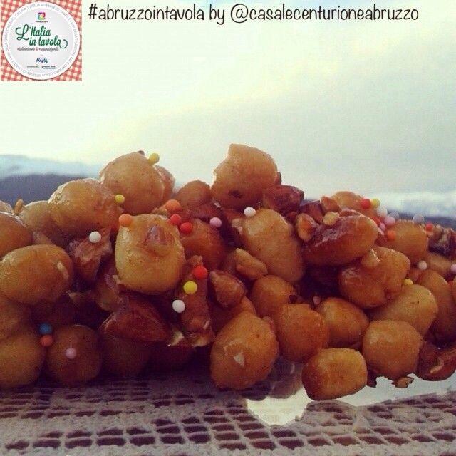 E poi la #Cicerchiata d'#Abruzzo con vista sul Parco della Majella #italiaintavola #abruzzointavola #italianfood #italy