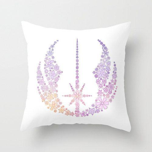 Star Wars Jedi Symbol Flowers Pillow Cover
