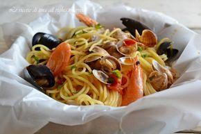 spaghetti al forno,spaghetti al cartoccio,spaghetti al cartoccio ricetta,le ricette di tina