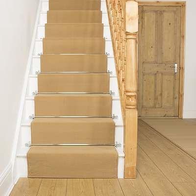 Best Plain Beige Stair Carpet Runner For Narrow Staircase 400 x 300