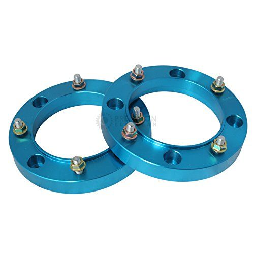 "2pc 1"" Thick 4x156 ATV Wheel Spacers with 3/8"" Studs/Nuts for many Polaris & Kawasaki: Outlaw (Front Only) Predator Ranger RZR Sportsman XP Lakota Mojave Tecate (4/156) Blue. For product info go to:  https://www.caraccessoriesonlinemarket.com/2pc-1-thick-4x156-atv-wheel-spacers-with-38-studsnuts-for-many-polaris-kawasaki-outlaw-front-only-predator-ranger-rzr-sportsman-xp-lakota-mojave-tecate-4156-blue/"