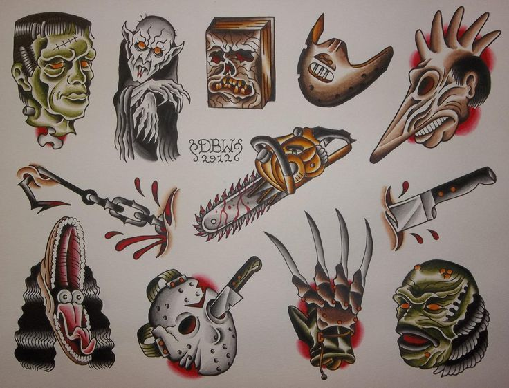 Traditional tattoos: Traditional Tattoos Horror Tattoo Traditional ...
