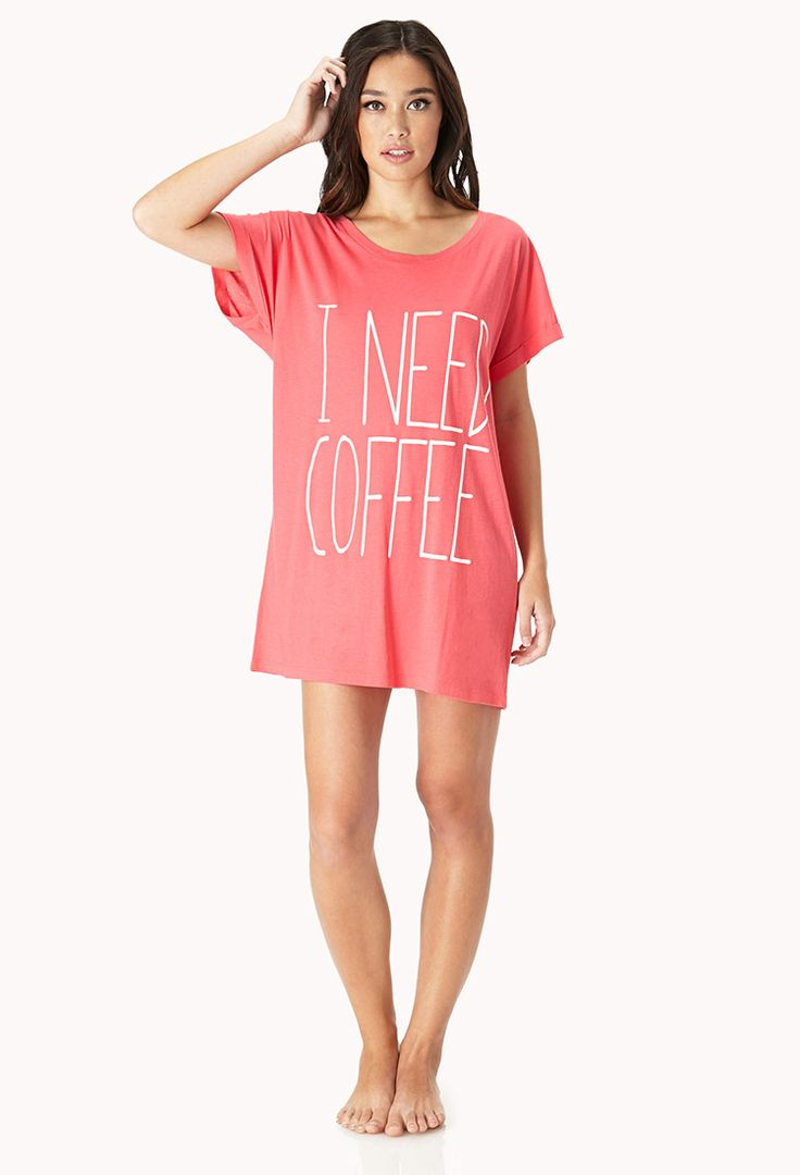 Morning Coffee Nightdress | FOREVER21 Never enough coffee #Pajamas #WishPinWin #ForeverHoliday