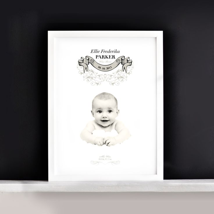 Metamorphosis Photography: Baby birth announcement