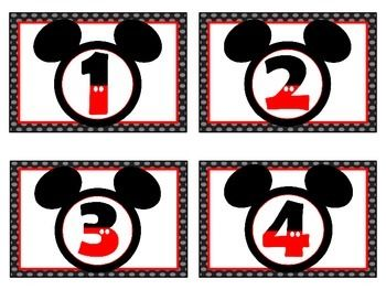 Disney's Mickey Mouse Number Labels