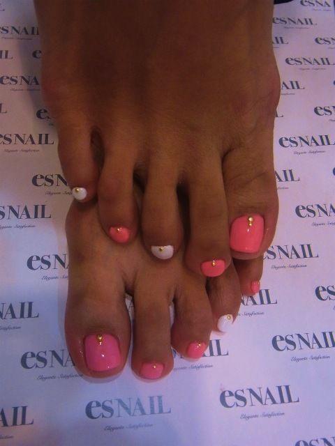 Pink sorbet nail