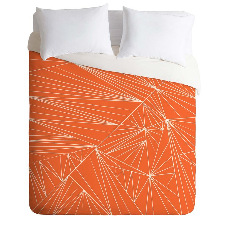 Vy La Tech It Out Orange Duvet Cover | DENY Designs Home Accessories
