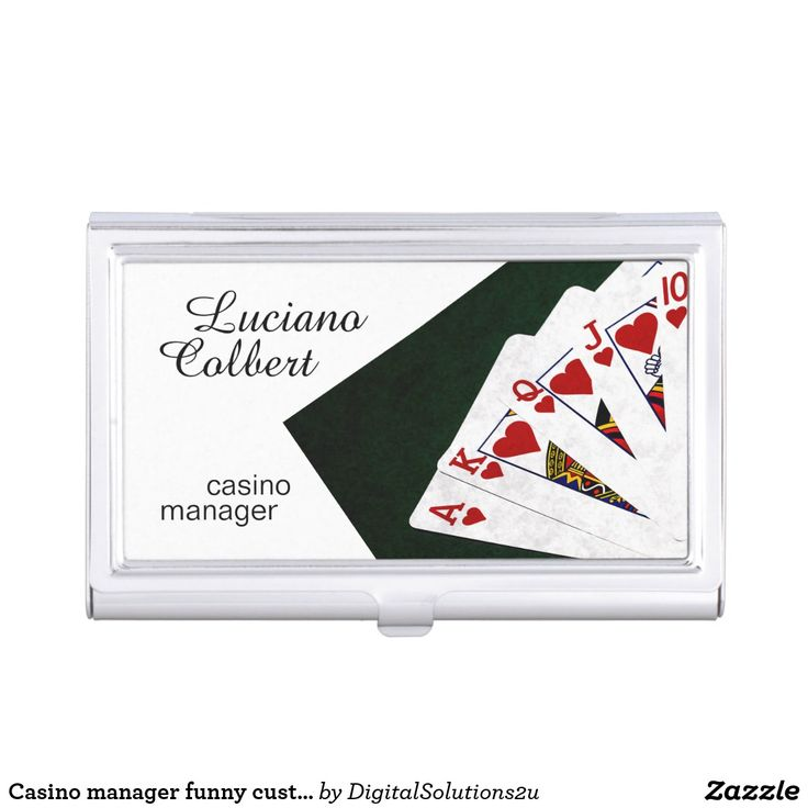 Casino manager funny customizable case for business cards