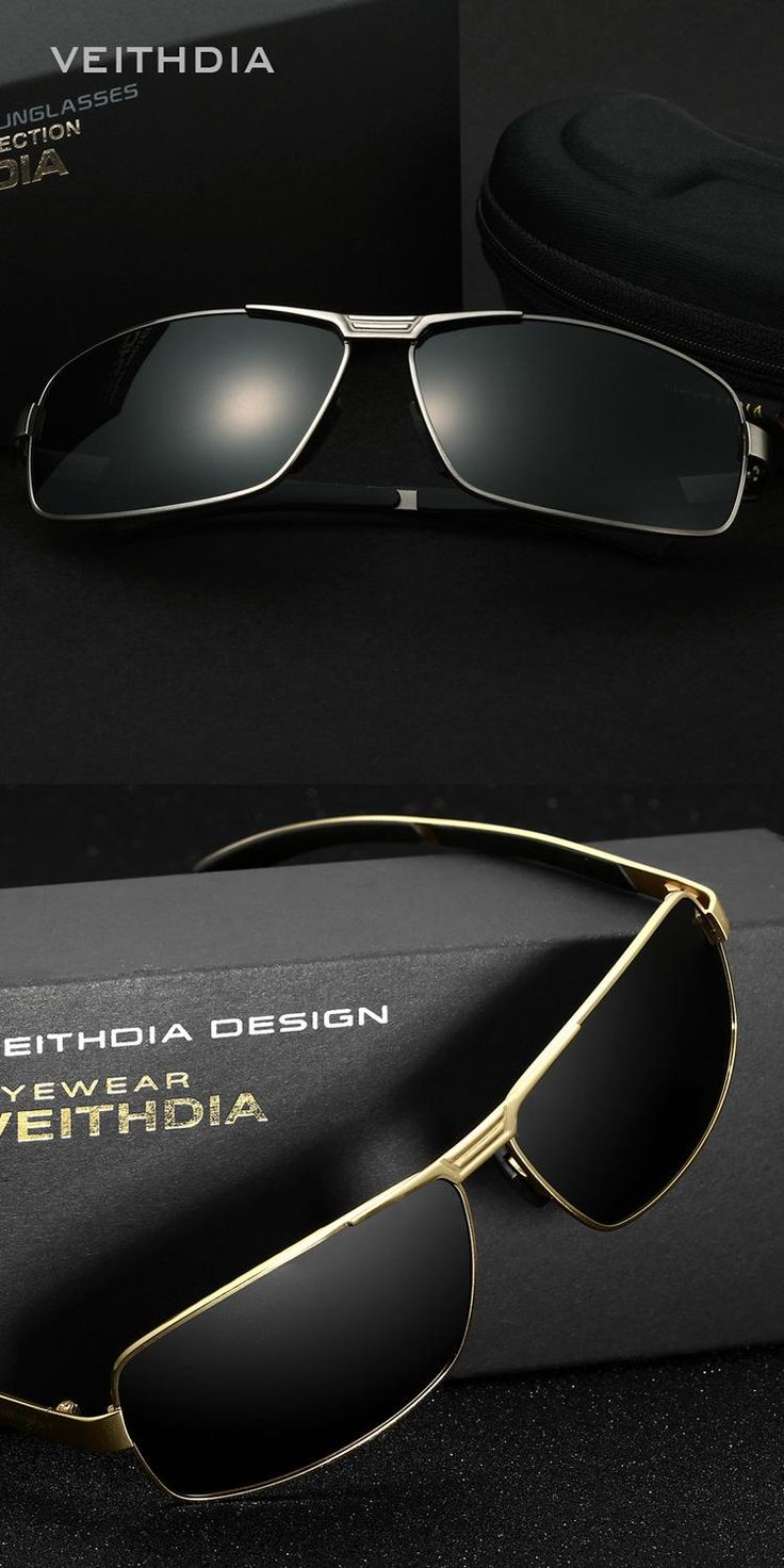 Free Shipping Men's Polarized Classical Sunglasses, Retro Design, Stainless Steel rim,  Hot Sale High-end with Gift box packing