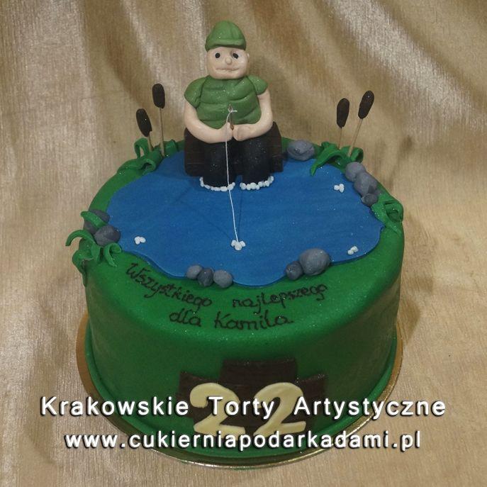 210. Tort dla wędkarza na 22 urodziny. Cake for angler for 22nd birthday.