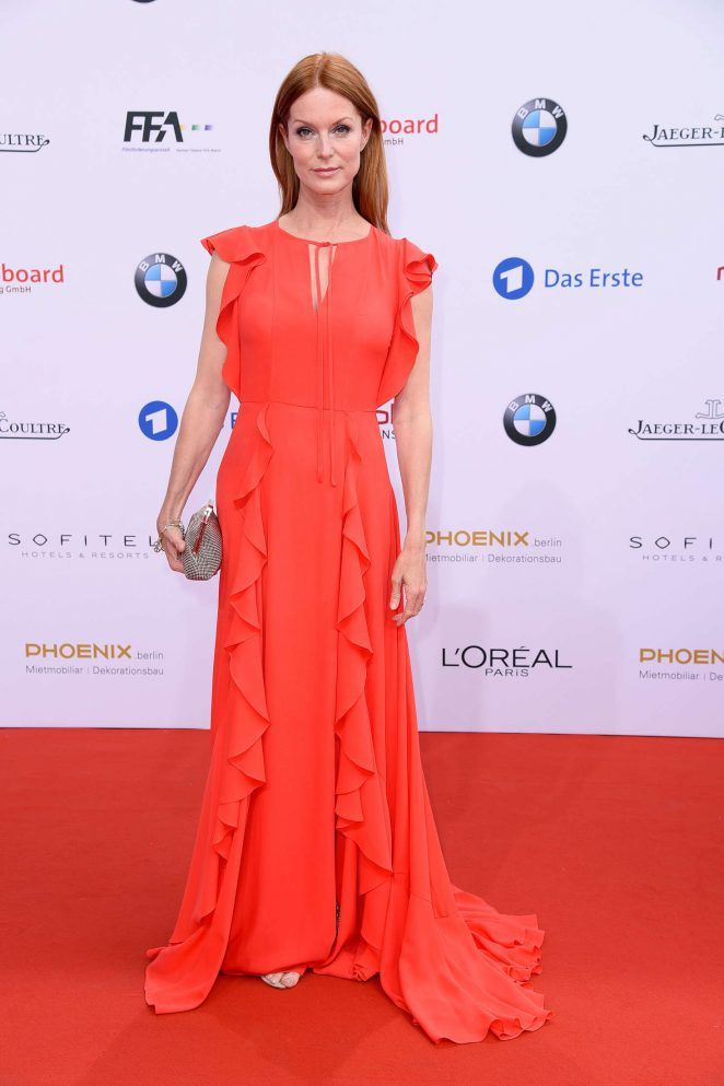 Esther Schweins wearing ESCADA Fall/Winter '16 at the Lola (German Film Awards)