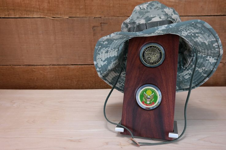 Military Challenge Coin Display 2-coin Gift, Coyote Wood, Army, Navy, Air Force, Marines & Coast Guard, Adjustable with Aluminum Stand by CoinDisplays on Etsy
