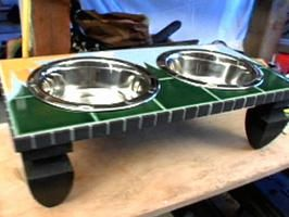 How to Make a Mosaic Pet Feeder Table