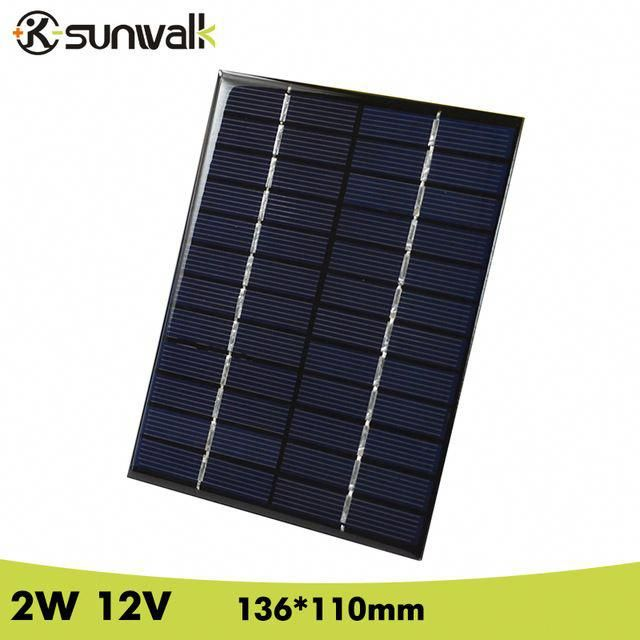 Sunwalk 2w 12v 166ma Epoxy Resin Encapsulate Solar Cell Panel Polycrystalline Silicon Mini Solar Cell For Diy Sol Best Solar Panels Solar Panels Solar Projects