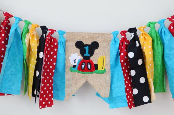 Mickey Mouse Clubhouse high chair banner