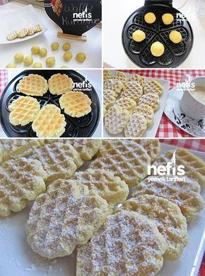Waffle Kurabiye (Tost Makinesinde)