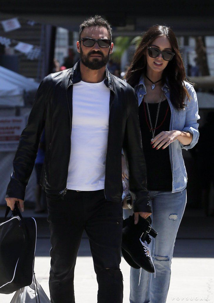 Pin for Later: Megan Fox and Brian Austin Green Look Happy and Relaxed Following Pregnancy News