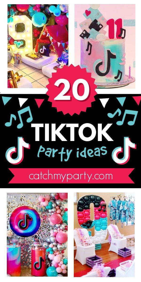 The 20 Best Tiktok Birthday Party Ideas Ever Catch My Party In 2021 Girls Birthday Party Themes Birthday Party Girl Birthday Party