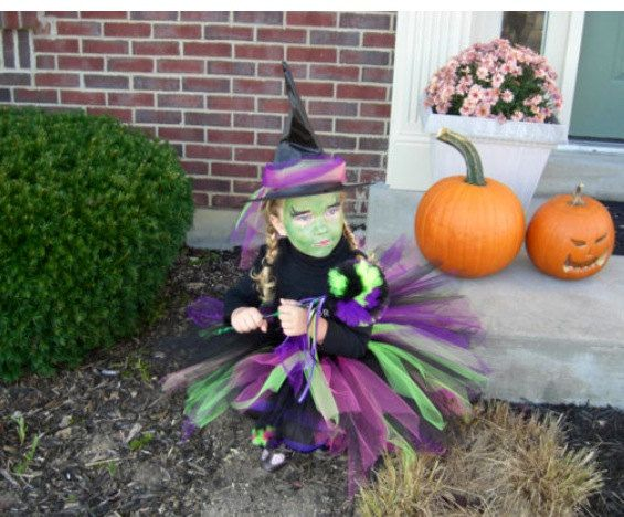 Girls Witch tutu Witch Costume Punky Witch by TheSugaredRibbon, $21.50