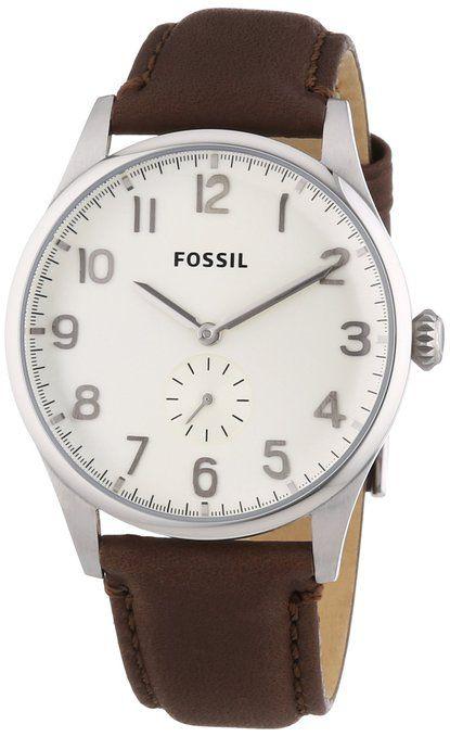 fossil herren armbanduhr xl the agent analog quarz leder. Black Bedroom Furniture Sets. Home Design Ideas